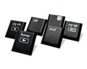 Computer Keyboard Pushpins Keys Upcycled Computer Parts Set of 6