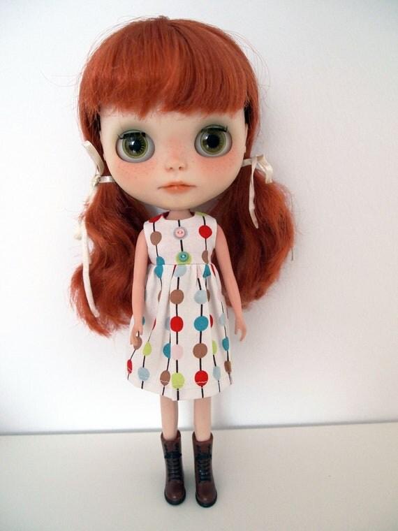 SALE: Circles dress for blythe doll