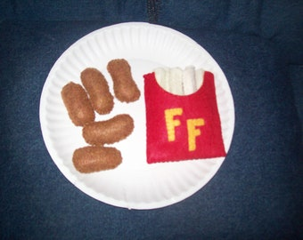 Felt 5 pc chicken nuggets & french fry set