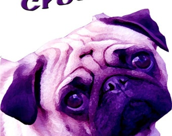 Fun Purple Pug Crossing Sign
