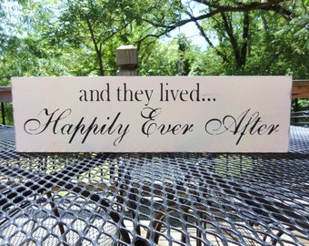 And They Lived Happily Ever After Beach Wedding Photo Prop Sign Decoration