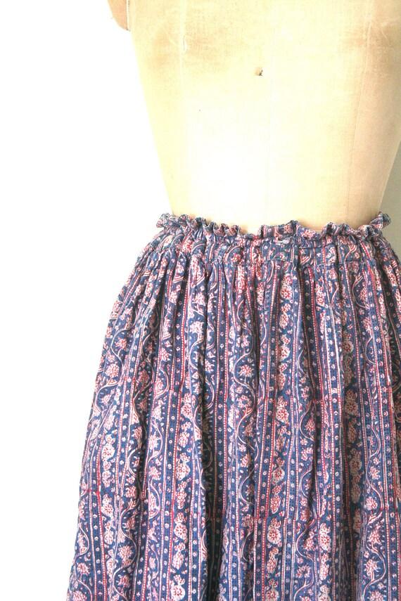vintage ANOKHI hippie skirt 1960's BATIK softest cotton INDIA block print