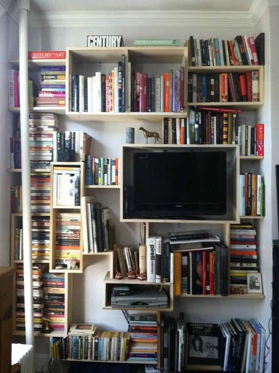 Custom Made Wall Bookcase