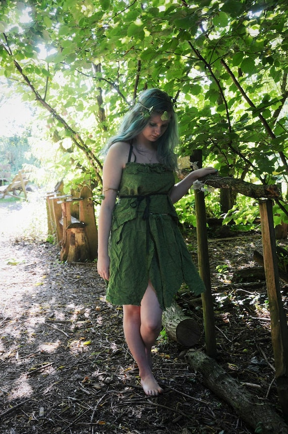 Woodland Fairy Dress Fairy Costume Womens Tinker Bell Costume