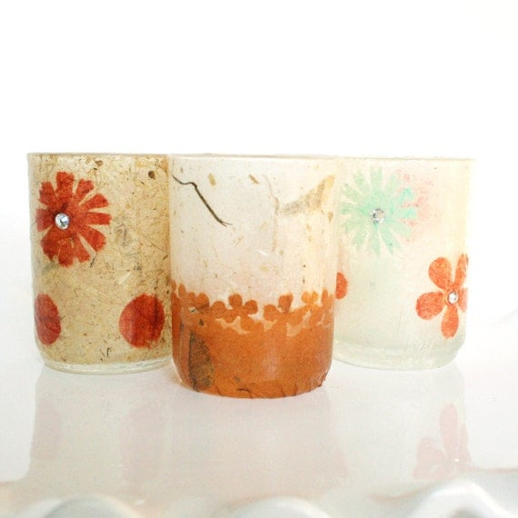 Minimalistic Modern Grunge Outdoor Lighting Candle Holder with Artistic Abstracts for Book Clubs, Morning Food Brunches, or Natural Weddings
