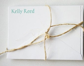 Personalized Stationery -- K E L L Y -- Contemporary Stationery Set of Custom Notes & Envelopes- CHOOSE your QUANTITY
