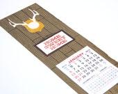 2013 Home Sweet Home letterpress calendar