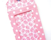 Luggage Tag / ID Tag  - Pink Elephants & Polka Dots