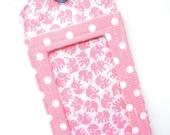 Luggage Tag / ID Tag  - Pink Elephants & Polka Dots