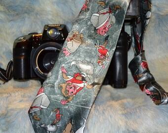 Christmas Fulamj Cartoon Karate Martial Arts Pig Elf Neck Tie