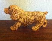 Vintage Cocker Spaniel Ceramic Dog Figurine