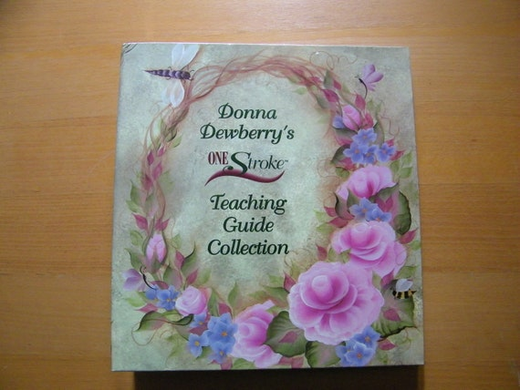 Donna Dewberrys One Stroke Teaching Guide Collection Folk Art One Stroke 24 Sheet Guides Binder Instant Collection