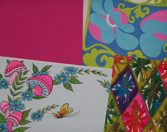 12 pc. Vintage Collection Stationery Lot - Groovy Brights