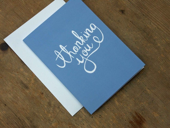 Thanking You card (blue)