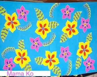 Sarong Turquoise Floral Sarong/Shawl
