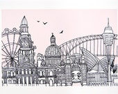 Sydney - Open Edition A4 Archival Print