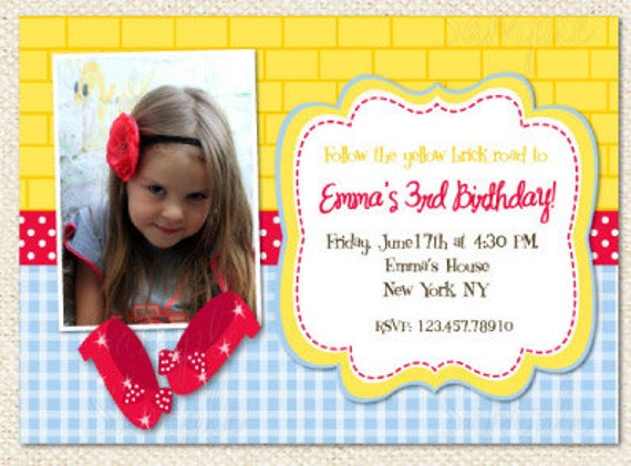 Wizard Of Oz Birthday Invitations is the best ideas you have to choose for invitation example