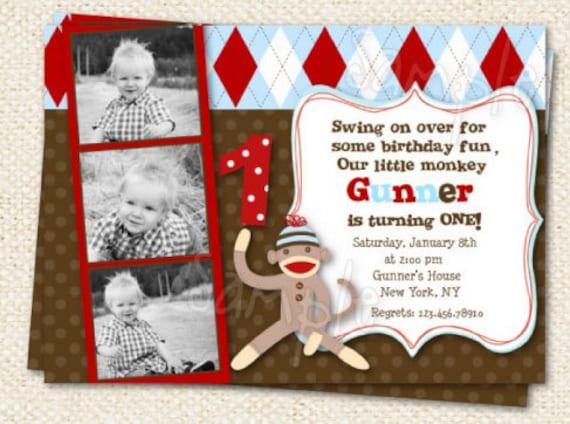 Sock Monkey Birthday Invitations was very inspiring ideas you may choose for invitation ideas