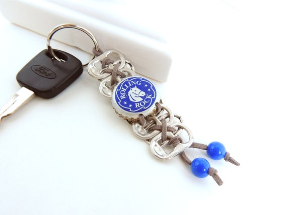 pop tab and bottle cap keychain the horse grey by fabtabulous. Black Bedroom Furniture Sets. Home Design Ideas