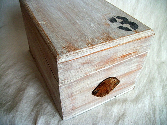 Vintage Industrial Chic Wood Box Upcycled