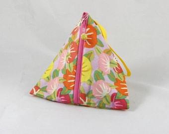 Persimmon Triangle Pouch