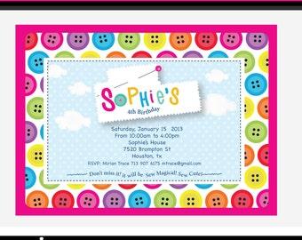 Sew Cute Printable Invitation