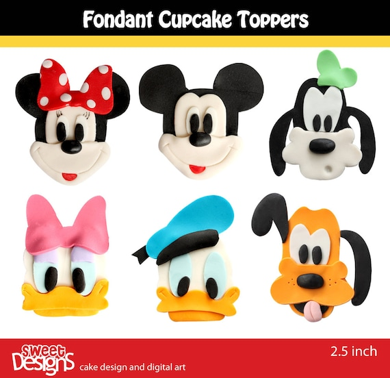 12 Fondant toppers for cupcakes or cookies