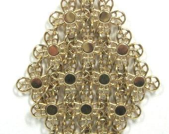 "Vintage Sarah Coventry ""Golden Petels""  Necklace"