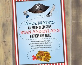 Party Pirate Printable Invitation - PDF
