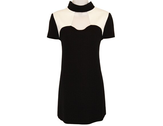 Vintage Courreges Dress, Minimal Mod, 1980s