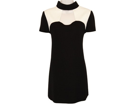 Vintage Courreges Dress, Minimal Mod, 1980s