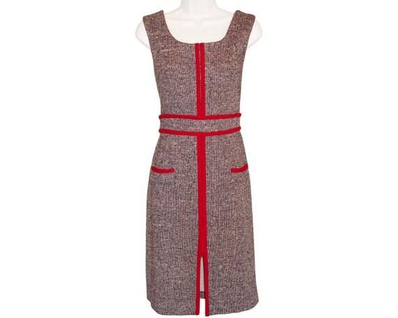 Vintage 1960s Tweed Mod Dress
