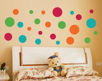 Set of 140 Polka Dots - Choose 4 Colors