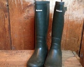 Vintage Barbour Rain Boots, Made in England, Ladies 6