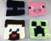 Crochet Minecraft-Inspired Coasters