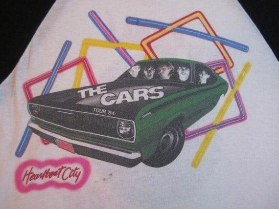 Original THE CARS vintage 1984 tour TSHIRT