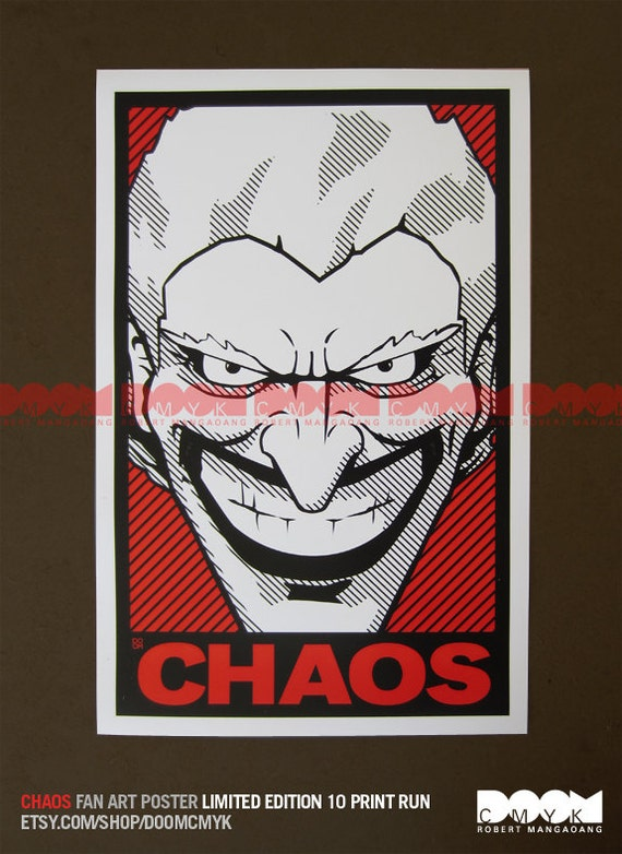 Limited Edition CHAOS 10 print run fan art poster