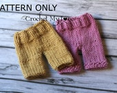 KNITTING pants pattern - baby pants pattern - knitty short pants pattern 103 - photography prop- baby clothes - coming home outfit