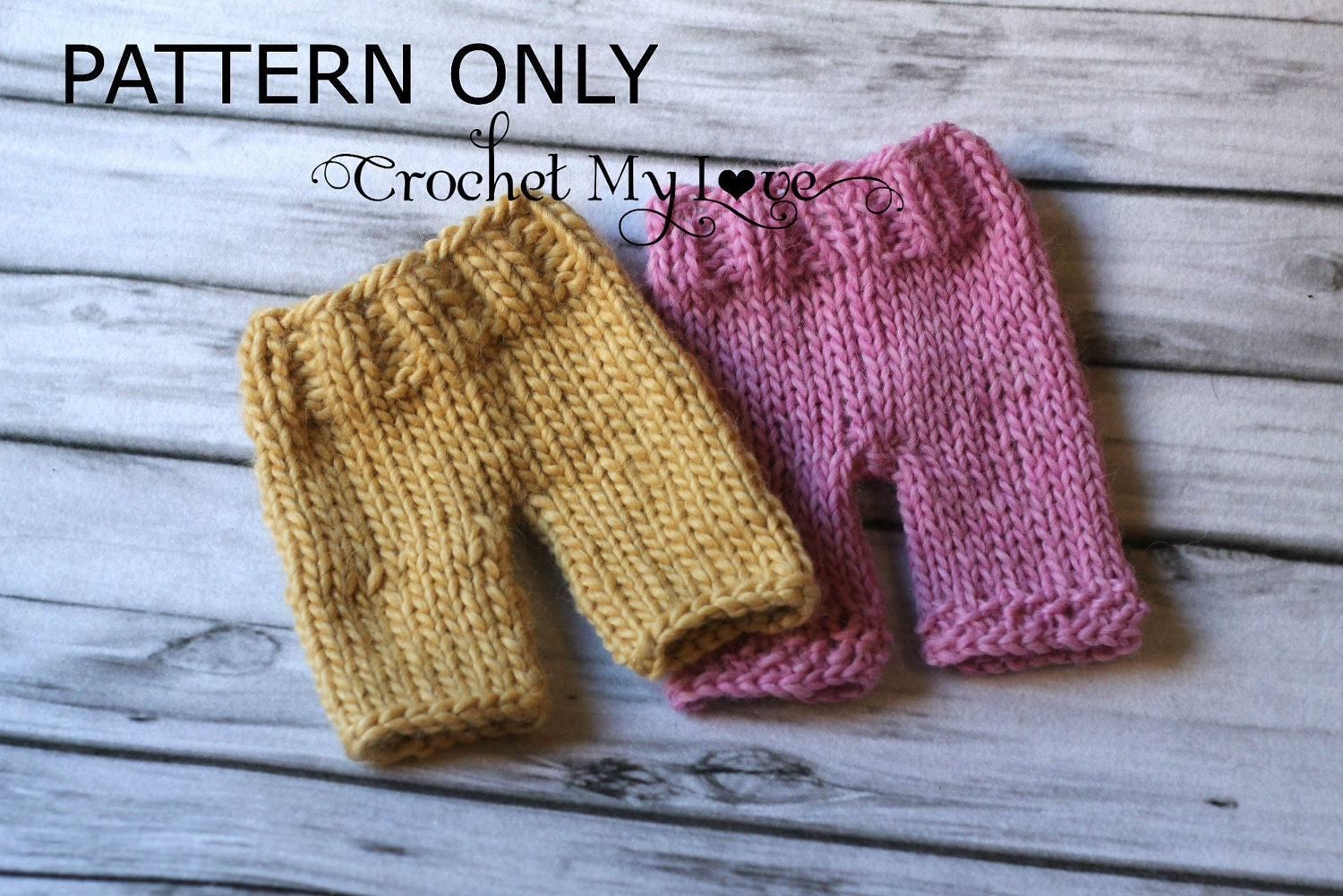 Knitting pants pattern baby pants pattern by CrochetMyLove