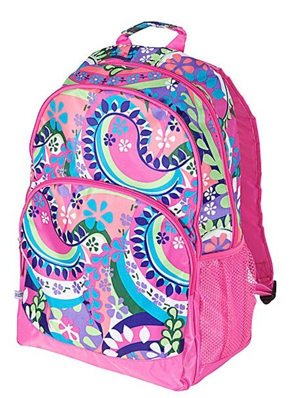 Paisley Punch Backpack from Room It Up,  monogrammed, embroideried with your name, customized