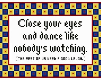 Close Your Eyes and Dance Subversive Cross Stitch Chart