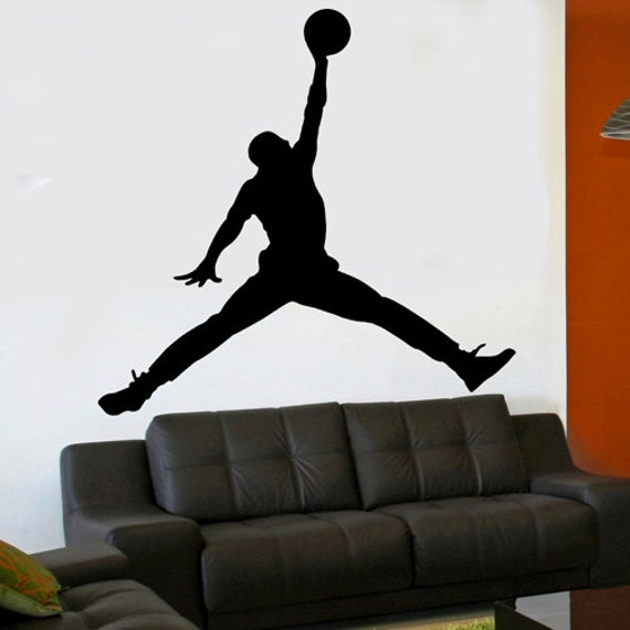 michael jordan jumpman 6 foot x 6 foot xl vinyl wall by michael jordan wall decal basketball vinyl sticker art