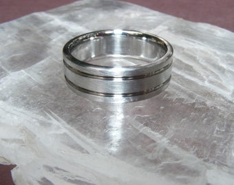 SIZE 9 Cobalt Chrome Abyss Band Ring up-size options