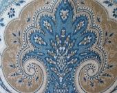 SALE - 2 Yds. Kravet Latika Delta Ikat Fabric - Blue, Khaki, Tan and Ivory