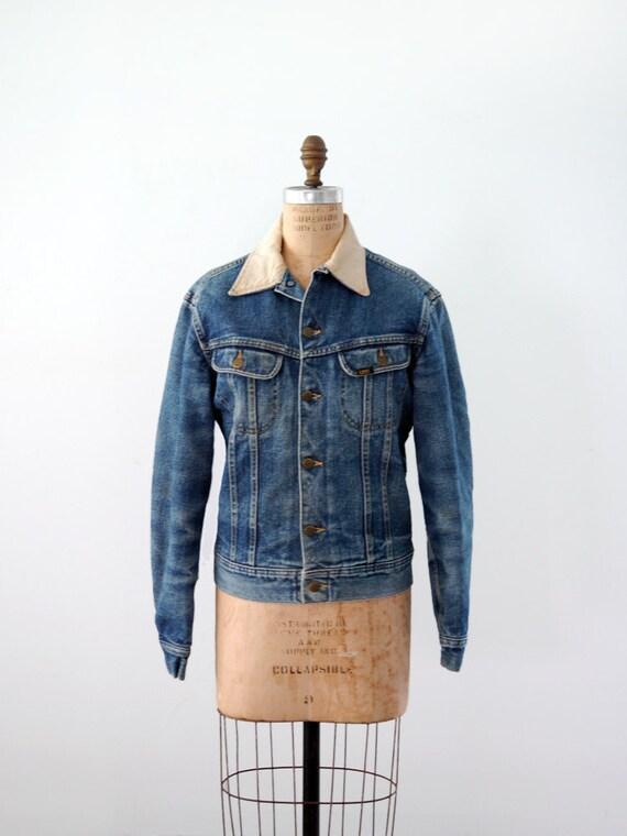 1970s Lee Denim Jacket / Flannel Lined