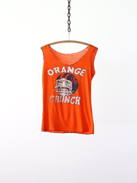 Vintage Denver Broncos Football Tee / Orange Crunch