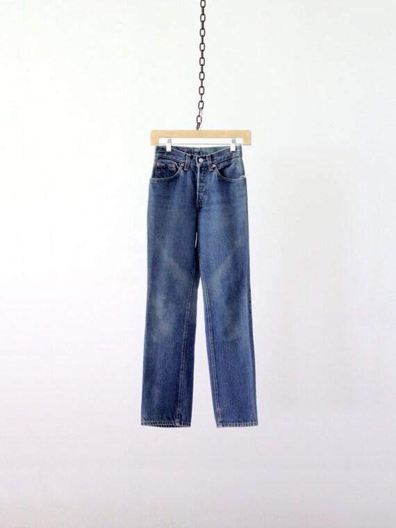 RESERVE - Levis High Waisted Jeans / Vintage Levis 501 Denim / Waist 25
