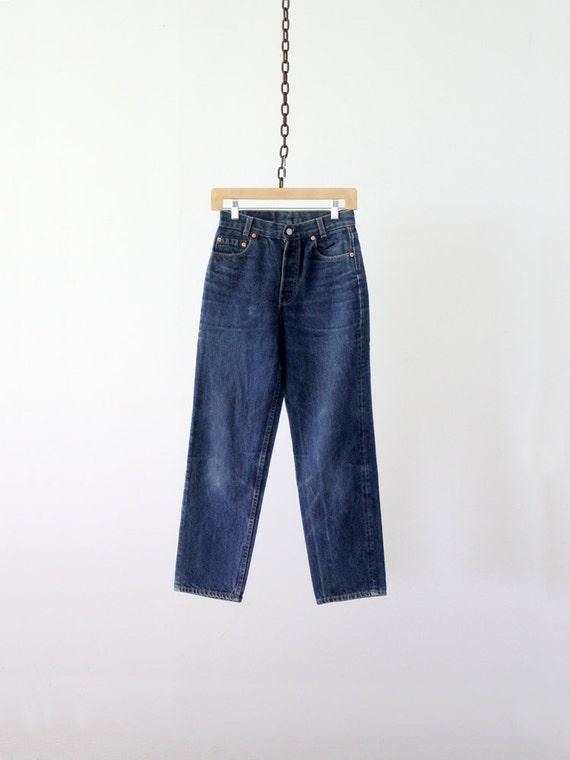 Vintage Levis Jeans / 1980s American Denim / Waist 27