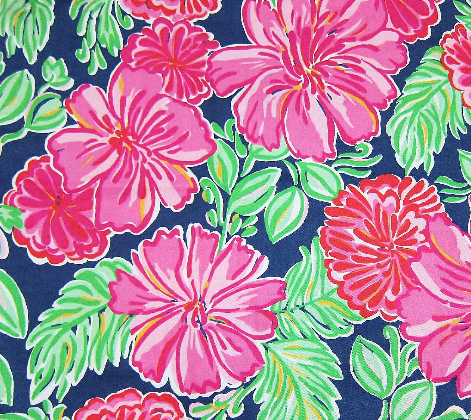 Authentic New Lilly Pulitzer Fabric 2011 Resort Bright Navy