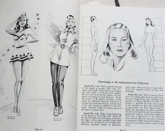 1947 Twelve Volumes of  Art Illustration Instruction Soft Cover Books